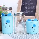 Kualitas Botol Minum Animal Diller Cover Dog Blue Botol Karakter Kaca Souvenir Ulang Tahun Drinking Bottle Glass Bottle Water Bottle Universal