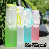 Harga Botol Minum Kaca Hello Master 500Ml Sarung Colourful Terbaru