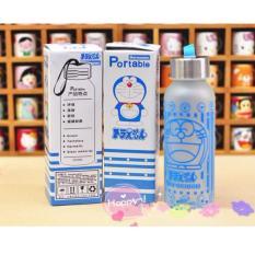 Botol Minuman Termos Anti Pecah Karakter Doraemon - Clear Doff