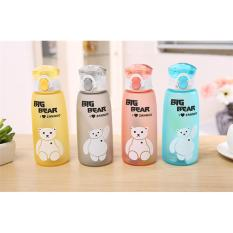 Bottle Big Bear - Botol Minum Bear Transparan Botol Minum Anti Tumpah Botol Tumblr Botol Minum Kekinian Botol Unik BPA FREE Transparan 500 ml - Mix Colour