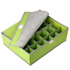 Box Case For Underwear and Socks 24 Slots Green