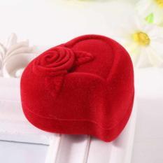 Box Cincin motif Hati / Red Love - Kotak Cincin Pernikahan