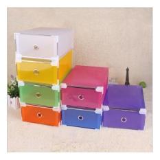 Box Serbaguna / Box Sepatu (Bahan lebih tebal,8 clip di tiap sudut