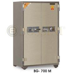 Brankas Dua Pintu BOSSINI BG-700 M Alarm (coklat)
