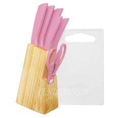 Toko Bravourus Pisau Dapur Set 8 Pcs M715 Baby Pink Online Terpercaya