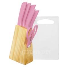 Beli Bravourus Pisau Dapur Set 8 Pcs M715 Baby Pink Seken