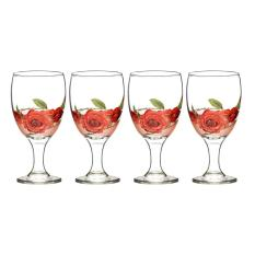 Jual Briliant Goblet Glass Set Gm1044 Sharon Merah Branded