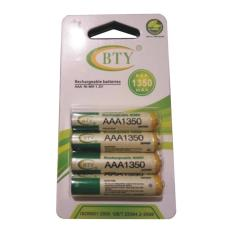 BTY - 4 Pcs Rechargeable Baterry AAA NImH 1.2V 1350mAh