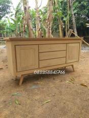Bufet Jati Meja Tv Rak Hias Minimalis- Furniture Jepara Free Ongkir