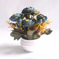 Buket Bunga Buttercup/Ranculus Vas Melamin Bulat Murah