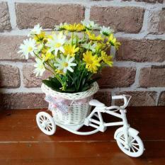 Rp 128.000 buket bunga plastik ARTIFICIAL artifisial dekorasi sepeda rotan TermurahIDR128000
