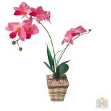 Bunga Plastik Jenis Anggrek Pot Original