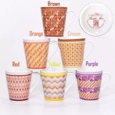 Bursa Dapur Carnivale Porcelain Mug 280 ml MIX SAND - 6 pcs