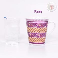 Bursa Dapur Carnivale Porcelain Mug 280 ml MIX SAND PURPLE - 6 pcs
