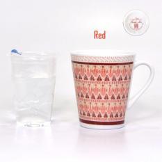 Bursa Dapur Carnivale Porcelain Mug 280 ml MIX SAND RED - 6 pcs