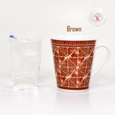 Bursa Dapur Mug BATIK MIX Brown/ Gelas Teh/Gelas Coffe