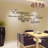 Model Butterfly Art Vinyl Removable Quote Stiker Lukisan Dinding Dekorasi Kamar Rumah Wall Sticker Terbaru