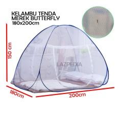 Butterfly Kelambu Tenda 180x200 cm Kelambu Tidur Kelambu Kasur Lipat Kelambu Anti Nyamuk Kasa Nyamuk Kelambu Portable - Lazpedia