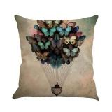 Beli Butterfly Painting Linen Cushion Cover Lempar Pinggang Bantal Sofa Dekorasi Rumah B Intl Baru