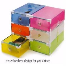 Jual Buy 1 Get 3Free 4 Pcs Kotak Sepatu Transparan Multicolor With Frame Branded