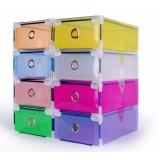 Jual Cepat Buy 1 Get 9 Free 10 Kotak Sepatu Warna Warni Multicolour Transparent Shoe Box With Frame
