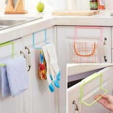 BUYINCOINS pintu logam ke teh dudukan rel gantung rak handuk Bar dapur lemari kabinet kamar mandi