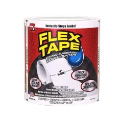 Review Toko Buyincoins New Strong Waterproof Flex Tape Black 4 X 5 Rubberized Seal Stop Leaks Tape White Intl