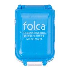 Buy In Coins Portable Seal Folding Kasus Pil Perhiasan Permen Kotak Penyimpanan Vitamin Container Biru Diskon Akhir Tahun