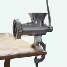 BUY IN COINS Dapur Rumah Stainless Steel Besi Cor Manual Penggiling Daging Meja Tangan Alat Pecincang