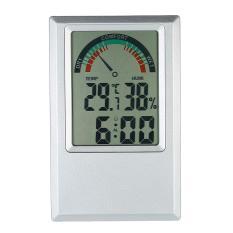 C/�F Digital Thermometer Hygrometer Suhu Kelembaban Meter Alarm Clock Max Min Nilai Tingkat Kenyamanan-Intl