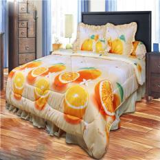 Jual California Bedcover King Motif Orange 180X200 Cm Online Di Dki Jakarta