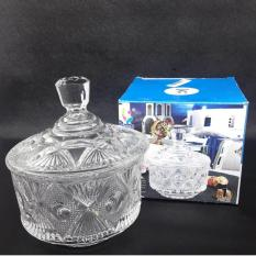 Candy Jar Bowl Toples Kaca Kue Tempat Permen Crystal Glass Gift