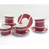 Harga Cangkir Set Batik Lurik Merah 12 Pcs Set Asli