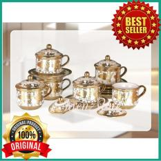 Cangkir Set Vicenza Original Cry85 - Cup & Saucers With Cover Cry85 - Hqexwj