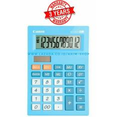 Canon Calculator As 120V Kalkulator 12 Digit Tenaga Baterai Matahari Pastel Blue Asli