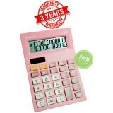 Beli Canon Calculator As 120V Kalkulator 12 Digit Tenaga Baterai Matahari Pastel Pink Cicilan