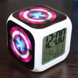 Beli Barang Captain America Jam Alarm Digital Klokken Elektronik Jam Meja Wake Up Lampu Plastik Dipimpin 7 Warna Intl Online