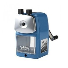 Review Carl Angel 5 Pencil Sharpener Blue Color Di Indonesia