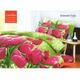 Spesifikasi Carmina Sprei Set Emerald Tulip King Size 180X200 Carmina Terbaru