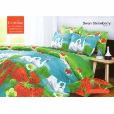 Carmina Sprei Set Swan Strawberry Queen Size 160x200
