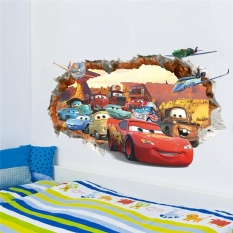 Toko Cars Through The Wall Decals Decorative Stickers Gift Kids Bedroom Home Decor 3D Cartoon Mural Art Diy Movie Posters Intl Oem Online