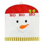 Cara Beli Kartun Penutup Kursi Natal Pasokan Tabel Dekoratif Hadiah Putih Snowman Natal Intl