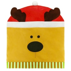 Beli Cartoon Christmas Chair Cover Supply Table Decorative Gifts Yellow Christmas Elk Intl Terbaru