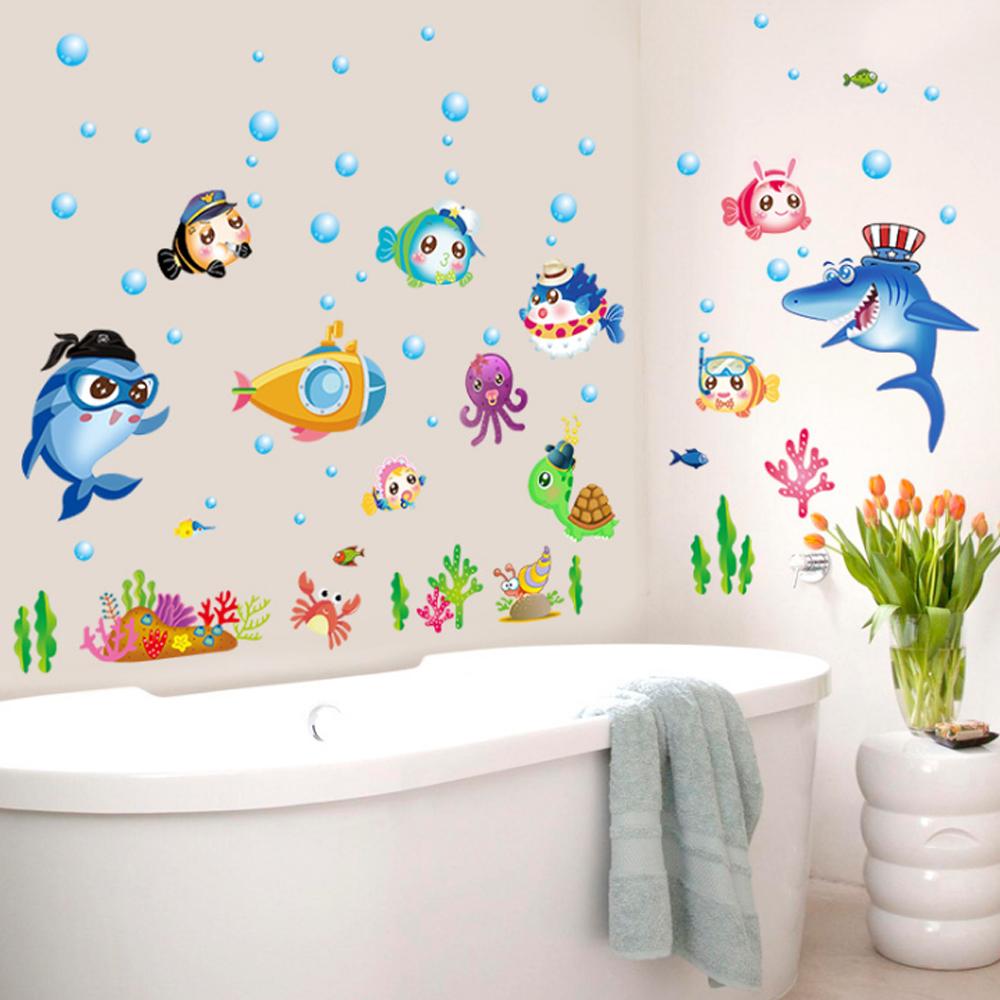PENAWARAN Kartun Fish Underwater World Wall Sticker Decal Home