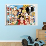 Jual Kartun One Piece Gambar Luffy Anime Wall Sticker Untuk Kamar Anak Anak Wall Decal Anak Anak Room Mural 3D Window Home Dekorasi Poster Baru