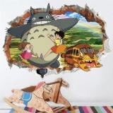 Jual Beli Kartun Totoro Wall Art Stiker Untuk Anak Anak Kamar 3D Efek Wall Decals Ruang Tamu Kamar Tidur Dekorasi Rumah Poster Mural Intl Di Tiongkok