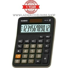Beli Casio Calculator Mx 12B Kalkulator 12 Digit Tenaga Baterai Matahari Black Pakai Kartu Kredit
