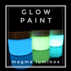 Cat Fosfor Basis Minyak   Glow Paint  Cat Glow In The Dark  Cat fosfor solvent Magma Luminos