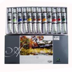 Jual Cat Lukis Cat Akrilik Cat Kanvas Acrylic Colour Set 12Pcs Tube Import