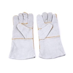 Catree-Tahan Api Tahan Lama Kulit TIG Tukang Las Gauntlet Kerja Sarung Tangan Keselamatan Workwear-Intl